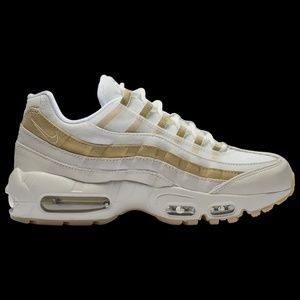 Nike Air Max 95 Gold and White Womens Sneakers